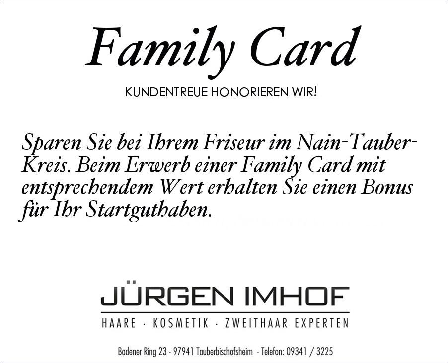 Friseur Tauberbischofsheim Family Card